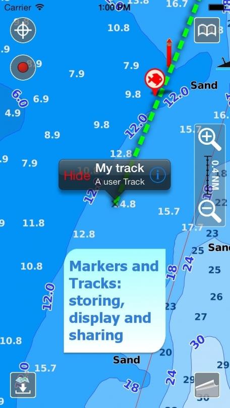 Aqua Map UK & Ireland - Marine GPS Offline Nautical Charts for Fishing, Boating and Sailing