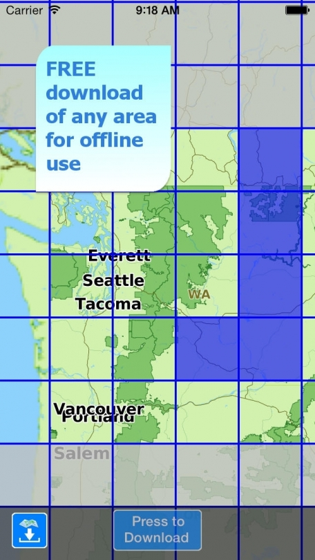 Aqua Map Washington - Lakes GPS Offline Nautical Charts