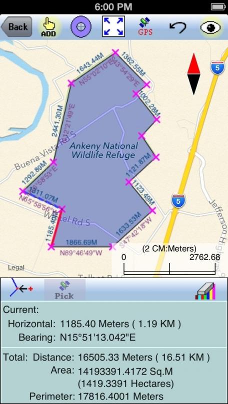 Area - Distance