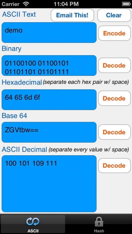 !ASCII HEX BASE64 MD5 SHA-1 BINARY text converter utility Pro
