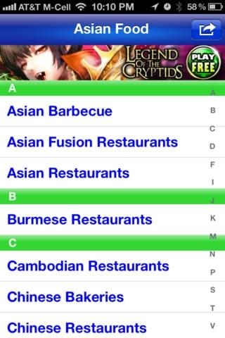 Asian Food Finder