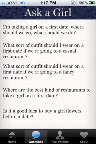 Ask a Girl: The Ultimate Date Guide Lite