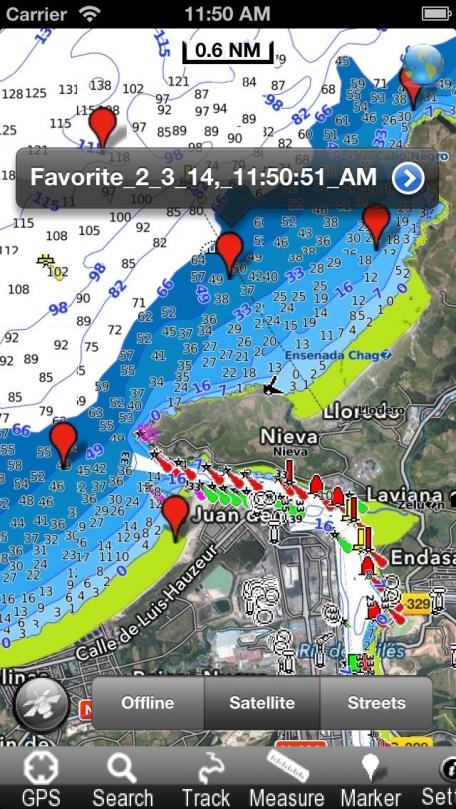 Asturies - Nautical Chart GPS
