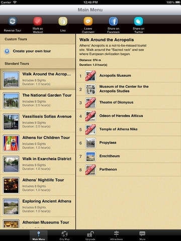 Athens Map and Walks