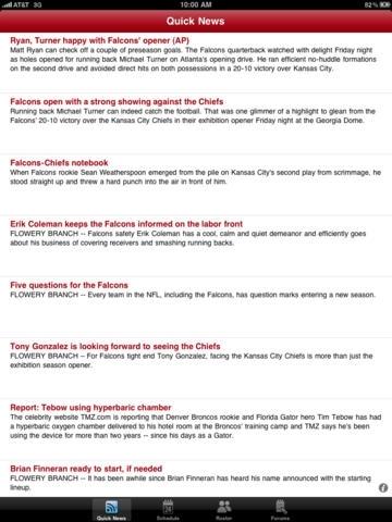 Atlanta Falcons 2010 News and Rumors