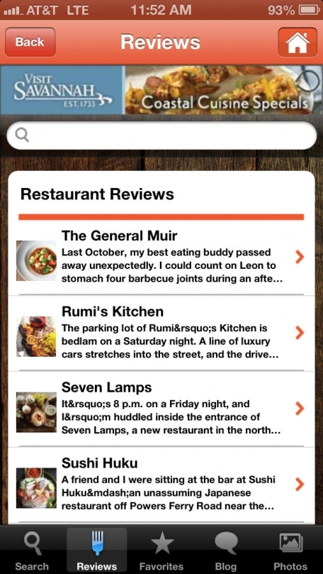 Atlanta Magazine Dining Guide