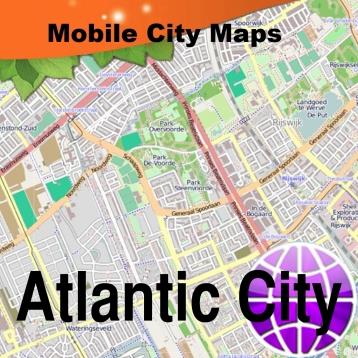 Atlantic City Street Map.