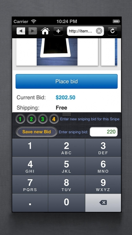 Auction Buyers Bidding Sniper tool for shopping on eBay • from the best last second Sniping Bidder out there