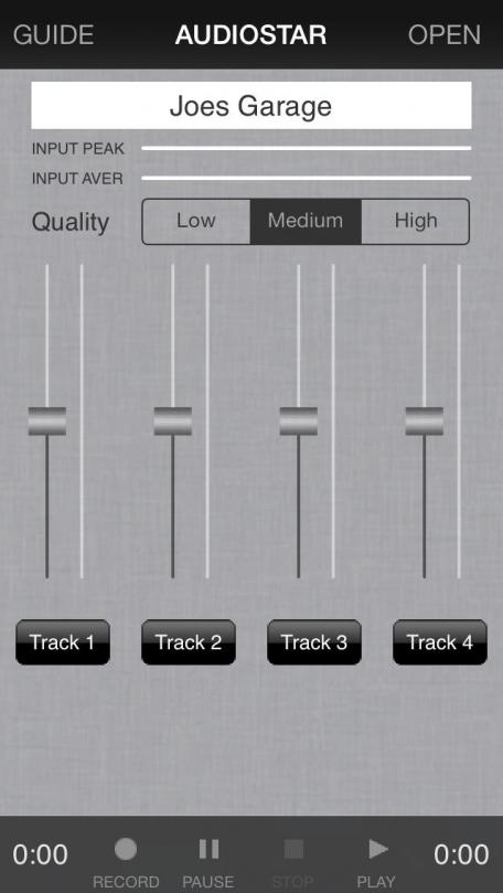 Audiostar Multitrack Recording Mixer Lite