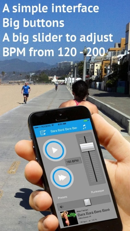 AudioStep - improve your run cadence with BPM match