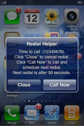 Auto Redial Helper