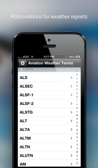 Aviation Weather Abbreviations and Terms