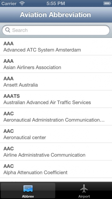 AviationABB - Aviation Abbreviation