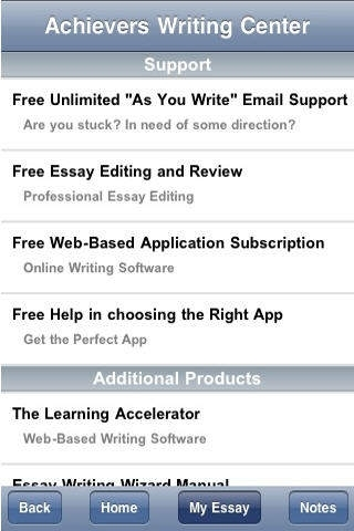AWC - Essential Essays (10 apps in 1) - includes editing and live writing assistant