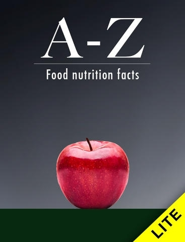 A-Z Food Nutrition Facts lite - Vitamins and minerals from groceries e.g. fruits, vegetables, seafood, meat,  poultry, legumes, salads, fats, nuts, dairy, herbs, etc.