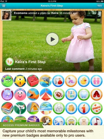 Baby Tracker & Digital Scrapbook | Kidfolio Pro with Tooth Chart