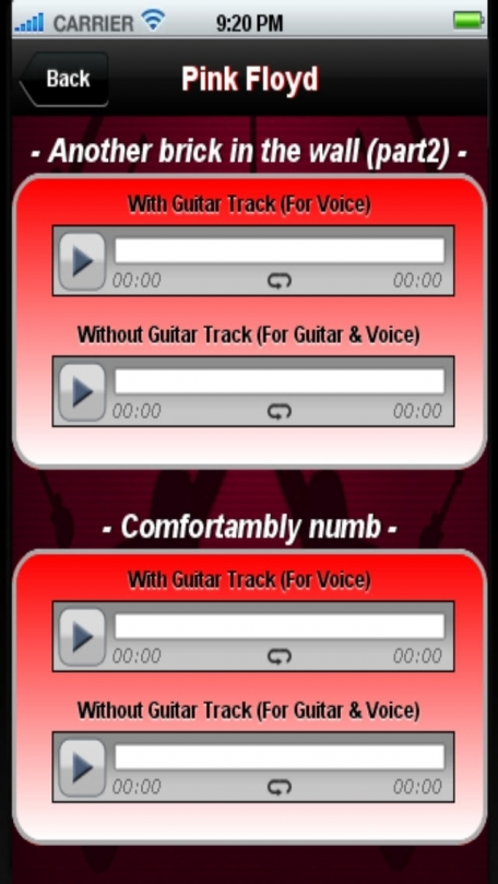 Backing Tracks Guitar & Voice - Greatest Hits '70
