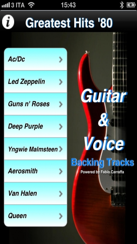 Backing Tracks Guitar & Voice - Greatest Hits '80