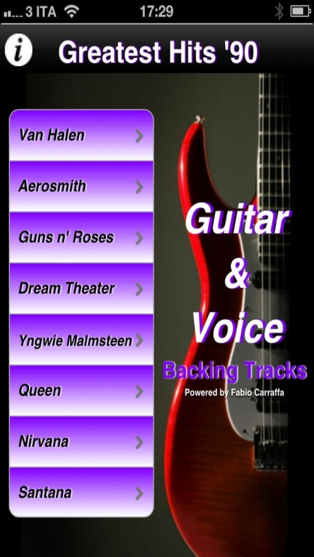 Backing Tracks Guitar & Voice - Greatest Hits '90