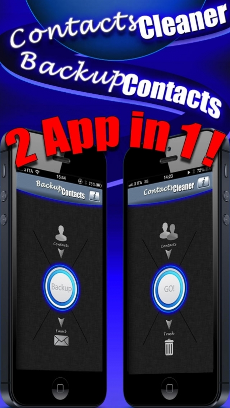 Backup Contacts Pro ( delete duplicate contacts , export and restore with one tap )