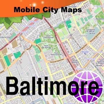 Baltimore Street Map.