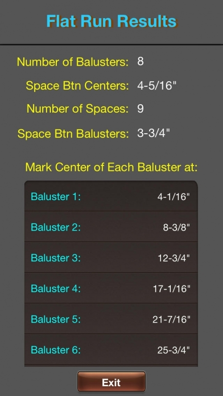 Baluster Calc Elite - Industry leading baluster and spindle spacing calculator for railing