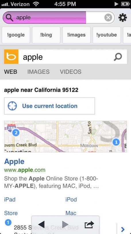 Bang On - a nice search app