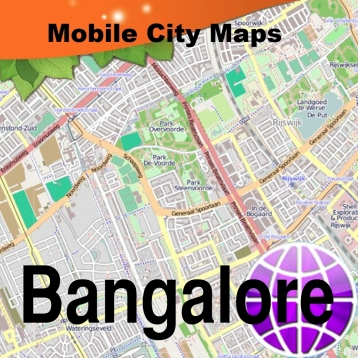 Bangalore Street Map for iPad