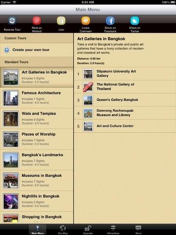 Bangkok Map and Walks