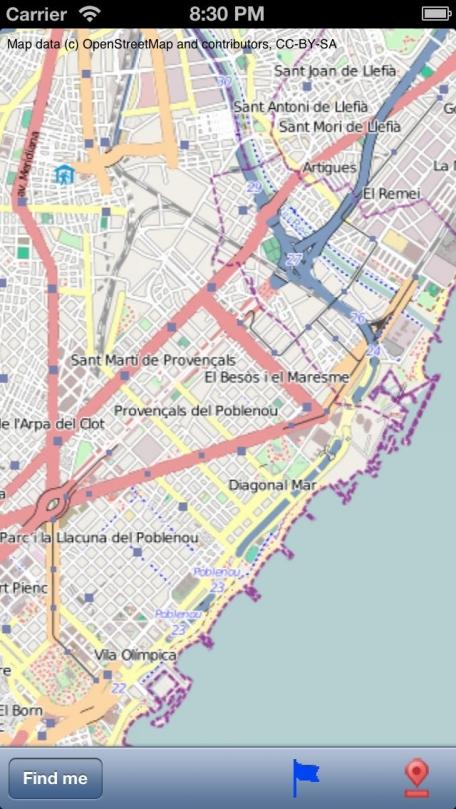Barcelona Street Map.