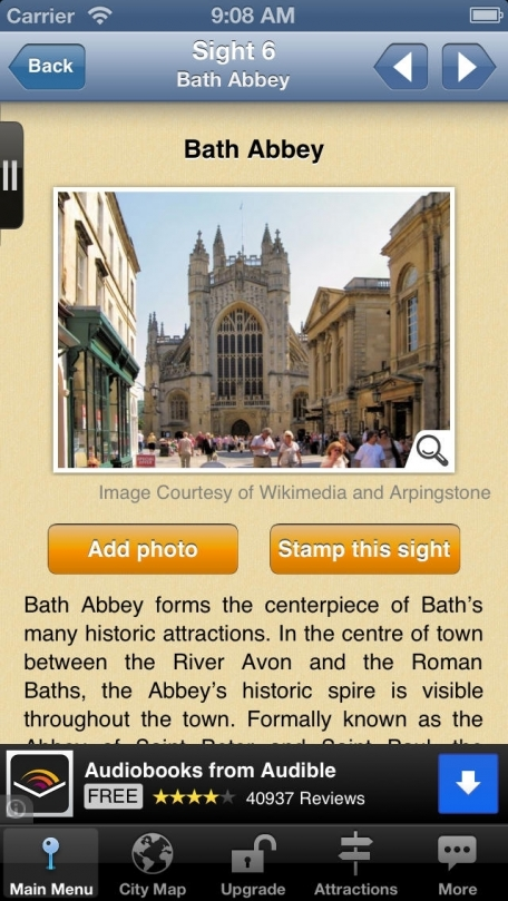 Bath Map and Walks