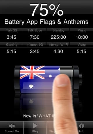 Battery App Flags & Anthems with Photo Import