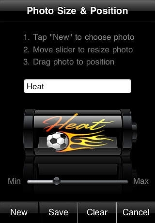 Battery App Sports Themes  ( with Photo & Team Logo Import )