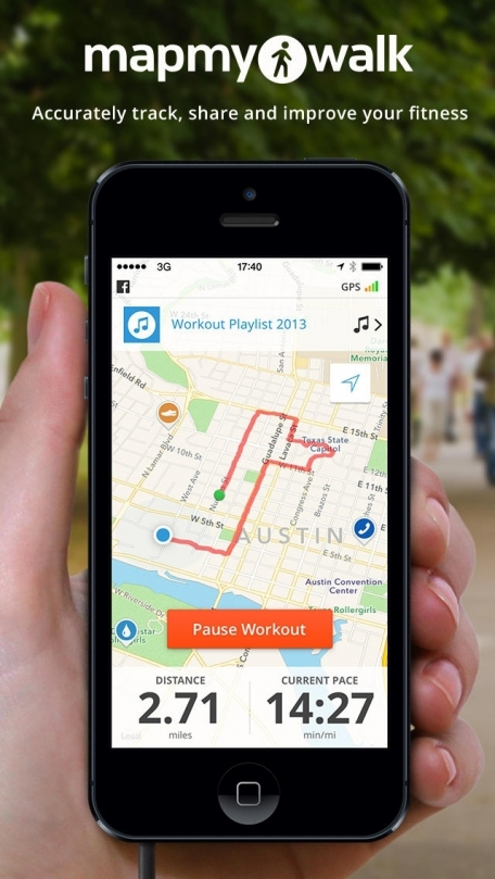 Walk with Map My Walk - GPS Pedometer for Walking, Jogging, Running, Workout Tracking and Calorie Counter