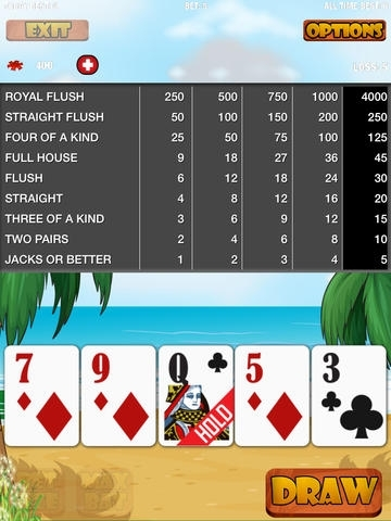 Beach Party Poker With 6 Pro Favorite Video Poker Games: Best Card Game Plays Ever!