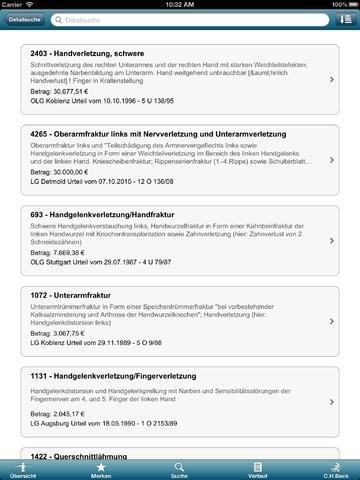Beck'sche Schmerzensgeld Tabelle IMM-DAT | Urteile Datenbank | Verlag C.H.Beck