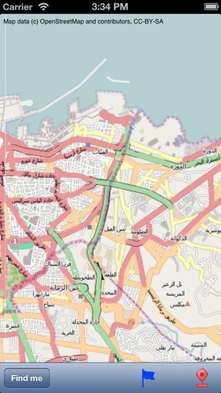 Beirut Street Map