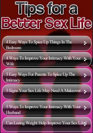 Better Sex Life Tip