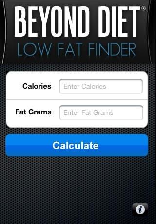 Beyond Diet - Low Fat Finder