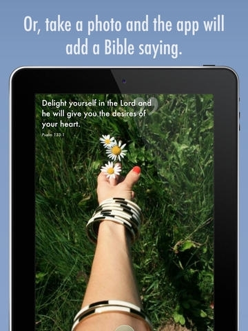 Bible Surprise – Daily Inspirations with Bible Verses on your Photos