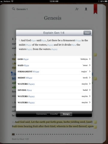 Bible with NIV, NKJV, KJV, ESV, NLT, AMP, MSG translation from eBible.com. Includes study Bible with commentary, dictionary, concordance, reading plan and devotional