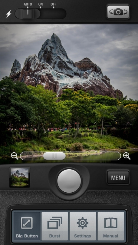 Big Camera Button - Tap anywhere to take a photo