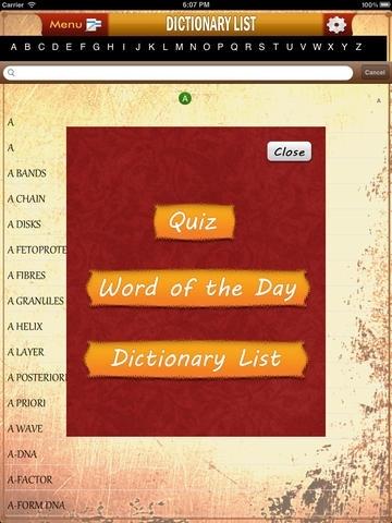 Biology Dictionary & Quiz Challenger