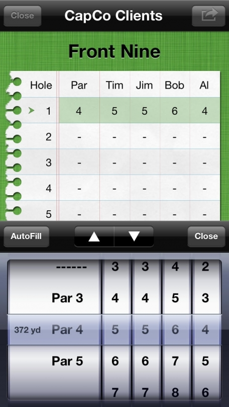 Birdies Free: Golf Scorecard