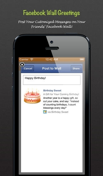 Birthday Sweet Pro - Birthday Calendar/Reminder and eCard Maker for Facebook