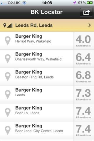 BK Locator - Find your nearest Burger King
