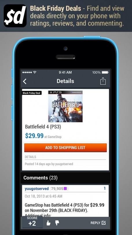 Black Friday App by Slickdeals - BlackFriday 2013 Deals, Ad Scans, Coupons and More