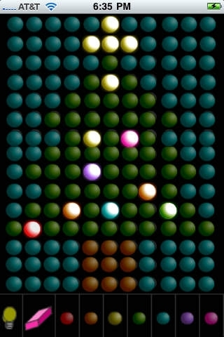 Black Light - colored dot drawing
