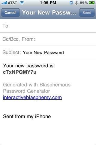 Blasphemous Password
