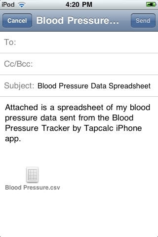 Blood Pressure Tracker by Tapcalc